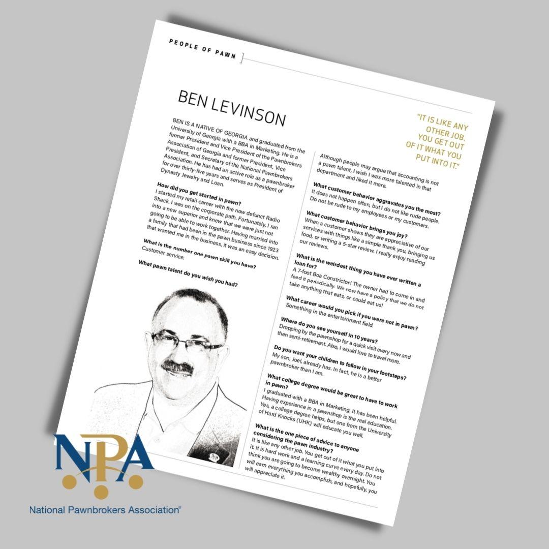 Ben Levinson NPA Feature